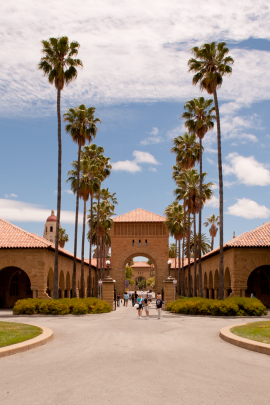 Stanford Quad on a sunny day